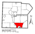 Map of Wayne Township, Lawrence County, Pennsylvania Highlighted.png