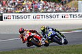 Marc Márquez and Valentino Rossi 2015 Assen 4.jpeg