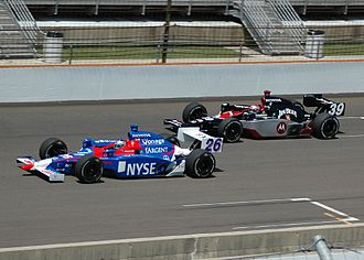 Marco Andretti - Marco (left) practicing with Michael Andretti at the 2007 Indianapolis 500