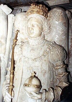 Margaret Leijonhufvud - Queen Margaret as shown on her grave monument.