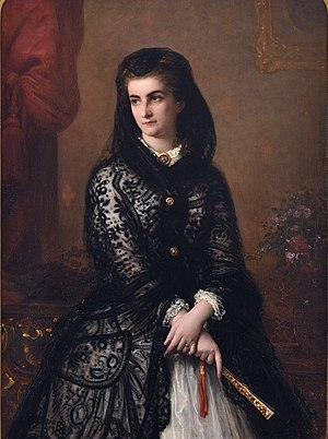 Maria Sophie of Bavaria - Portrait by August Riedel, 1860s