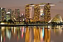 Marina Bay Sands and the skyline of the Central Business District, Singapore, at dusk - 20120805.jpg