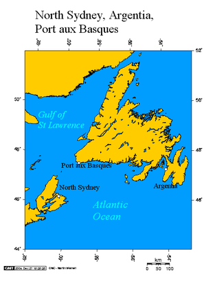 Argentia - Argentia and the other Marine Atlantic ferry ports
