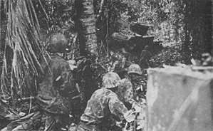 Battle of the Coconut Grove - Image: Marines advance into Coconut Grove on Bougainville November 1943