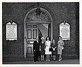 Mark Bortman, Mary Collins, three unidentified women at the Old South Meeting House (13559780995).jpg