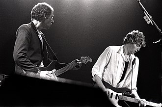 Dire Straits - Knopfler and Lindes on stage in Amsterdam, June 1981