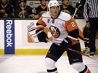 Mark Streit - Streit playing for the New York Islanders