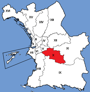 10th arrondissement of Marseille - Image: Marseille Arrondissements 10