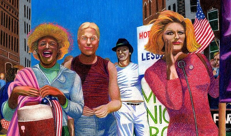 File:Marsha P. Johnson, Joseph Ratanski and Sylvia Rivera in the 1973 NYC Gay Pride Parade by Gary LeGault.jpg