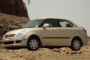 English: A 2008 Maruti Suzuki Swift Dzire VXi.