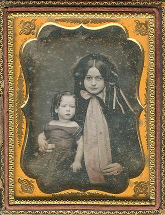 Mary Anna Custis Lee - Mary Anna Custis Lee and her son, Robert E. Lee, Jr., c.1845
