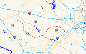 Maryland Route 108 - Image: Maryland Route 108 map