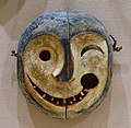 Mask depicting the face of a tunghak (keeper of the game), Yupik Eskimo, Yukon River area, late 1800s, wood, paint - Dallas Museum of Art - DSC04530.jpg