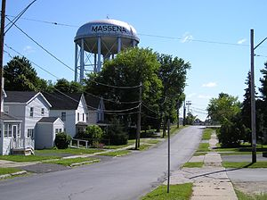 Massena, New York - The town's water tower.