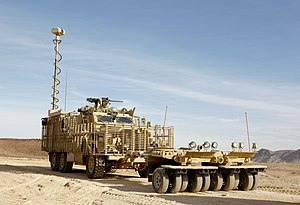 Cougar (vehicle) - British Mastiff with Choker mine rollers in 2012