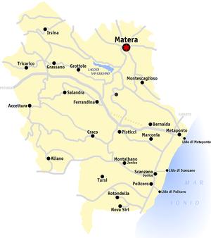 matera italien landkarte Provinz Matera – Wikipedia