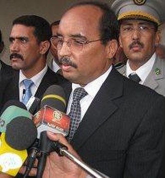 Mauritanian presidential election, 2009 - Image: Mauritania aziz in his home city Akjoujt 15mar 09 1