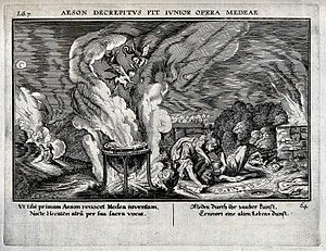 Aeson - Image: Medea draining the blood of Aeson in order to rejuvenate him Wellcome V0025848