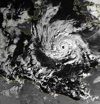 Tropical cyclone basins - Image of the January 1995 system