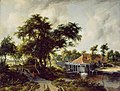 Meindert Hobbema - A Watermill WLC WLC P99.jpg