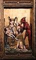 Meister francke, altare di santa barbara, amburgo 1420 circa, dalla chiesa di kalanti, sculture 05 maria libera il cavaliere teofilo dal patto col diavolo.JPG