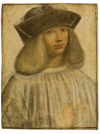 Francesco Melzi - Portrait by Giovanni Boltraffio, c. 1496–1498