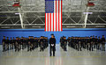 Members of the U.S. Air Force Band stand at parade rest during preparation for the 57th presidential inaugural parade at Joint Base Andrews, Md 130110-F-HB697-515.jpg