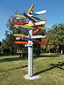 Memorial Park, fingerpost, 2019 Dunaharaszti.jpg