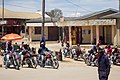 Men who ride motorcycle for transporting people and goods from one place to another known as bodaboda.jpg