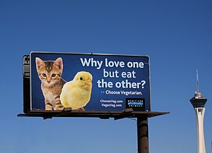 Mercy for Animals - Image: Mercy for Animals billboard, Las Vegas, NV, 2010