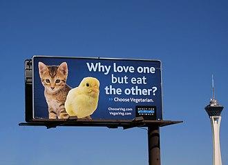 Mercy for Animals - Image: Mercy for Animals billboard, Las Vegas, NV, 2010