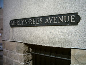 Merlyn Rees - Merlyn Rees Avenue, street sign in Morley, West Yorkshire