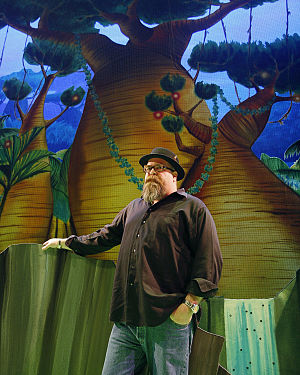 David Gallo - David Gallo on the set of Madagascar Live!