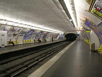Maison Blanche (Paris Métro) - Image: Metro 7 Maison Blanche quais