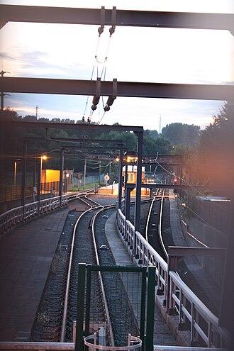 Pétria (Charleroi Metro) - Image: Metro Charleroi Pétria station
