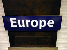Image illustrative de l'article Europe (métro de Paris)