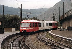 Vernayaz - Train of the Martigny au Châtelard (MC) line
