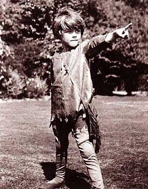 Michael Llewelyn Davies dressed as Peter Pan a...