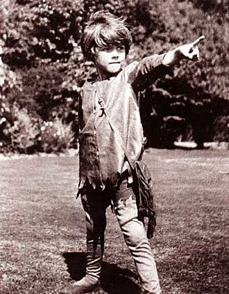 Peter Pan statue - Michael Llewelyn Davies as Peter Pan in 1906