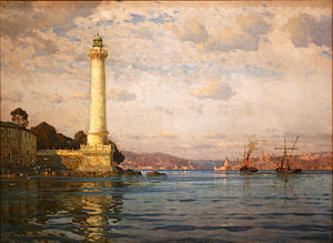 Ahırkapı Feneri - The Ahırkapı Lighthouse by Michael Zeno Diemer (1907)