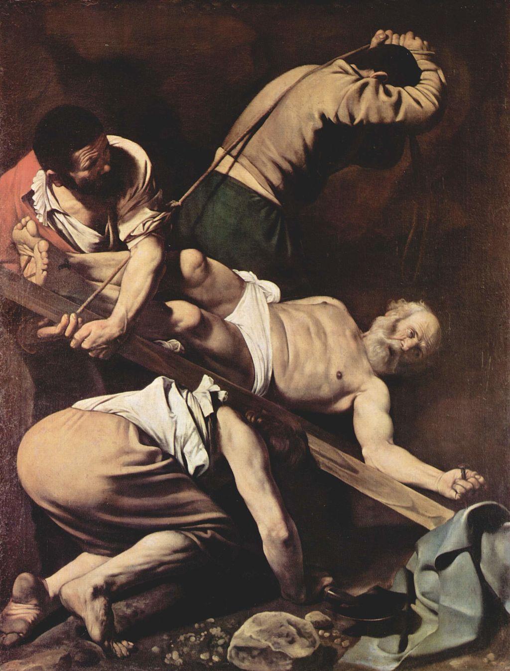 Peter's crucifixion Caravaggio