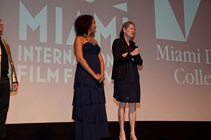 Venus and Serena (film) - Directors Michelle Major and Maiken Baird at the 2013 Miami International Film Festival premiere