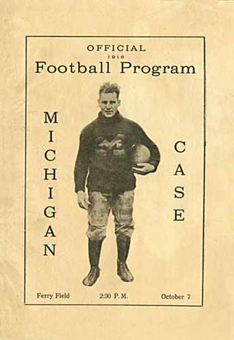 Case Western Reserve Spartans football - Michigan vs Case series occurred from 1894–1923, where Michigan hosted Case in sixteen home openers.