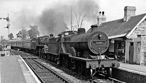 Slow Train - Midsomer Norton, a typical country station, whose closure was lamented by the song Slow Train.