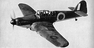 Miles Aircraft - Miles Master trainer in flight during the Second World War