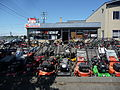 Miles of lawn mowers, Victoria, BC.jpg