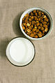 Milk with Fried masala Groundnut 01.jpg