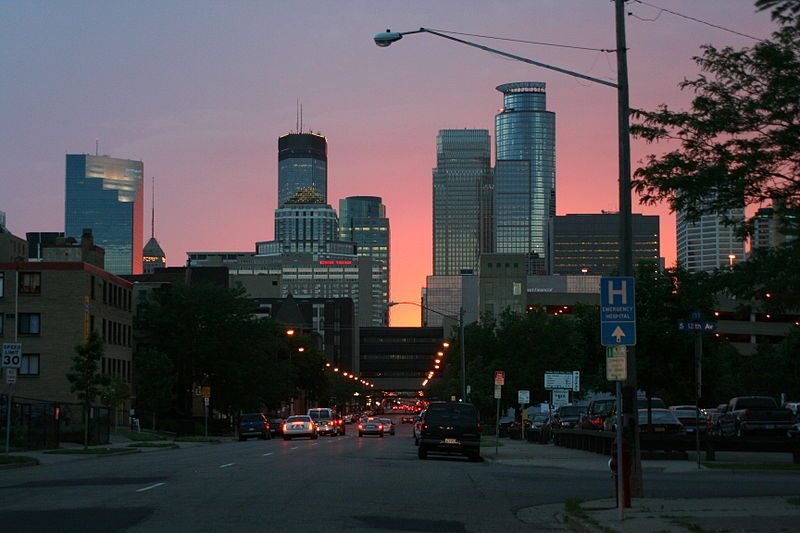 File:Minneapolis Skyline Sunset.jpg