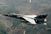 Mirage F1CR Savoie in flight 1987