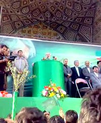 Файл:Mirhossein musavi in Zanjan By Mardetanha video.ogv